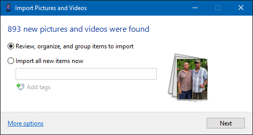 Windows 10 Import Pictures Zero New Pictures Found | General